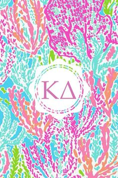 Kappa Delta Lilly iPhone monogram background!