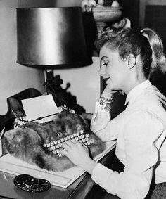 Love that typewriter cover!                                                           Typist: Shirley Jones