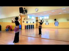 Basic Tribal fusion Bellydance workout - SLOW - Danza del ventre L'Aquila