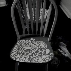 Stencilled chairs