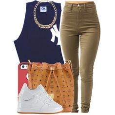 A fashion look from January 2015 featuring NIKE sneakers, MCM handbags and LOFT necklaces. Browse and shop related looks.