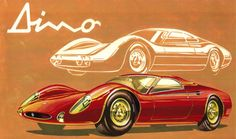 Two proposals for the Dino Berlinetta Speciale, 1964