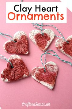 Clay Heart Ornaments - Crafts on Sea