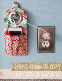 Cell phone charging pocket