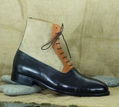 Mens Handmade Leather Suede Lace Up Ankle High Boot,Stylish Cap Toe Boot 1-Handmade Men Boots 2-New With Box 3-Upper Material Suede Leather 4-Sole Leather 5-Fully Leather Lined 6-Insole Leather 7-Out sole Leather High Leather Boots, High Ankle Boots, Suede Leather, Leather Shoes, High Shoes, Chelsea Shoes, Wingtip Shoes, How To Make Shoes, Formal Shoes
