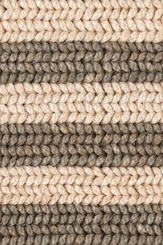 Belted Stripe handwoven abaca rug in Dove colorway, by Merida. Belted Stripe handwoven abaca rug in Dove colorway, by Merida.