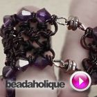 Tutorial - Videos: How to Make a Japanese 8 in 2 Chain Maille Bracelet With Swarovski Edging | Beadaholique love it! must try! #ecrafty