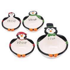 Penguin Party Measuring Cup 4Pc Set - Holiday Party Tabletop