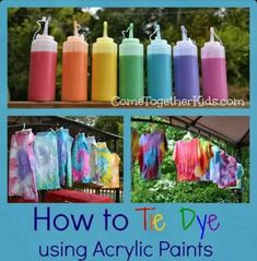 Tye Dye With Acrylic Paint!! #Family #Kids #Trusper #Tip