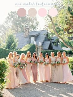 Mix matched bridesmaids | Steve Steinhardt Photography Women, Men and Kids Outfit Ideas on our website at 7ootd.com #ootd #7ootd