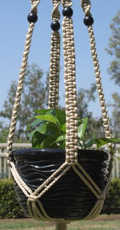 CLASSIC #Handmade #Macrame #PlantHanger in PEARL by #ChironCreations http://etsy.me/2naJ3TQ via @Etsy #etsy #homedecor #patiodecor #yard #backyard #garden #apartment #70s #retro #boho #bohostyle #plants #gift #hippie #modernhippie #hipster #indoor #outdoor #indoorplants #outdoorplants #home #patio #decor #affordablegift #plant #hanger #holder #macrame