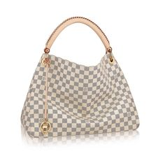 Louis Vuitton White Checkered Hobo Bag Louis Vuitton White Checkered Hobo Bag in EXCELLENT CONDITION - Not authentic. Louis Vuitton Bags Hobos