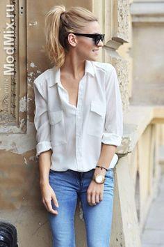 Белая рубашка, с чем носить   Мода 2016, фото, модные советы стилиста, форум