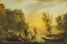 Claude Joseph Vernet, River Scene (Wallace Collection)