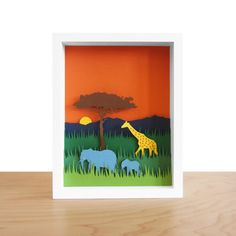 If I was a wildly wealthy teacher, I would support this artist by buying her biome shadow boxes and putting them up in my classroom!  Since we study biomes, it would work :)
