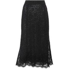 Dolce & Gabbana Lace Midi Skirt (24.165 ARS) ❤ liked on Polyvore featuring skirts, black, dolce gabbana skirt, mid-calf skirt, midi skirt, knee length lace skirt and lace skirts