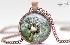 Dandelion Necklace Dandelion Art Pendant Dandelion by FrenchHoney