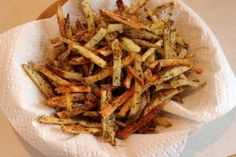 Italian Fries! Plus, the secret to CRISPY baked fries!