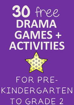 Enjoy this FREE collection of 30 Drama Games and Activities for Pre-Kindergarten to Grade 2. If you like this resource and are looking for more drama resources, please follow me. I will be uploading more high quality drama resources regularly!