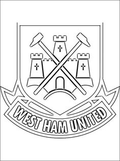 West Ham United FC Coloring Page