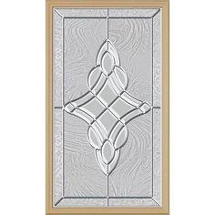decorative glass door insert