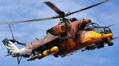 Painted Mil Mi-24 Hind