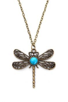 Etched Oxidized Dragonfly Pendent #Necklace - OASAP.com  Free Shipping+$15 Coupon!