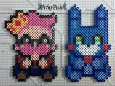 The King of FnaF and Toy Bonnie by PerlerPixie