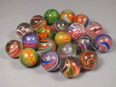 Collection of 20 Antique Swirl Glass Marbles £698.00 (17B)