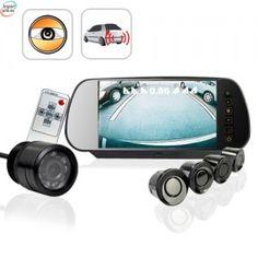 Komplett Ryggekamera Sett.Sensorer, Ryggekamera Og Monitor. (700HH)