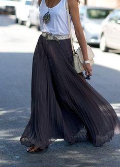 Charcoal pleated skirt - w a n t