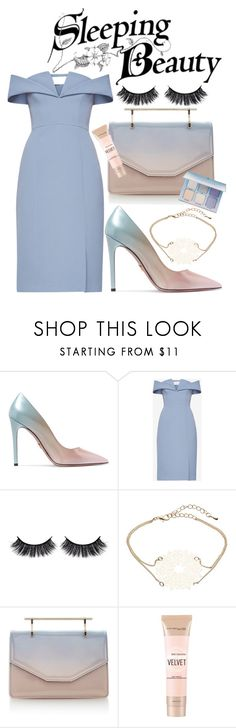 """Dreamy-Eyed Damsel"" by rachael-aislynn ❤ liked on Polyvore featuring Prada, BCBGMAXAZRIA, Battington, John Lewis, M2Malletier and Maybelline"