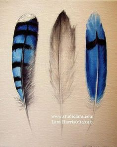 Custom Build Your Own Feather Painting. Lara Harris. studiolara316