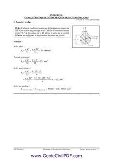 exercices Rdm (MomentInertie) Genie, Discipline, Math Equations, Behavior, Calculus, Exercises