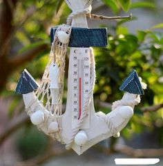 Wooden Anchor thermometer