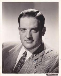 Laird Cregar signed and inscribed photo