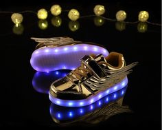 Source Flashing Children Usb Charging Led Light Shoes Sneakers Kids on m.alibaba.com