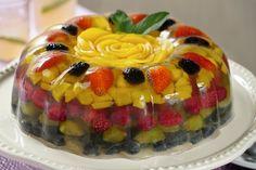 Gelatina Cristalina con Frutas