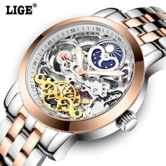 LIGE Mens High Quality Tourbillon Automatic mechanical Watches Men Top Brand Luxury Dive 50M Business full steel watch Man Clcok Check it out!  #shop #beauty #Woman's fashion #Products #Watch