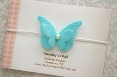 Diadema mariposa bebé venda venda del bebé de la mariposa