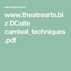 www.theatrearts.biz DCsite carnival_techniques.pdf