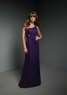Sheath One Shoulder Dark Purple Bridesmaid Dresses BD0656 by Dream Bridal
