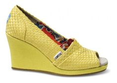 YELLOW TOMS WEDGES!
