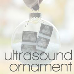 Homemade ultrasound ornament for the grandparents to be yes i diy ultrasound ornament crabfish negle Gallery