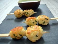 brochette poulet coriandre gingembre - sauce coco citronelle