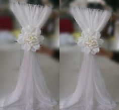 Fashion Sample Wedding Chair Sashes Wedding Chair Ribbon Gauze Back Sash Back Of The Chair Back Decoration Party Formal Event Accessory, $5.83   DHgate.com