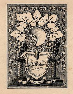 ≡ Bookplate Estate ≡ vintage ex libris labels︱artful book plates - antique