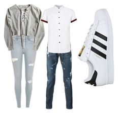 """day out"" by tjuusglo on Polyvore featuring Topman and adidas"