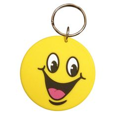 Smiley Rubber Keyring