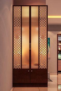 Interior Designers in Bangalore - Brigade Exotica Glass Partition Designs, Living Room Partition Design, Living Room Tv Unit Designs, Temple Design For Home, Jaali Design, Home Entrance Decor, Mandir Design, Pooja Room Door Design, Kitchen Room Design